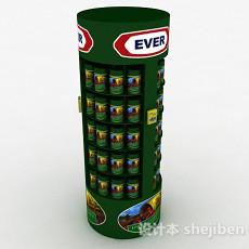 绿色罐头展示台3d模型下载