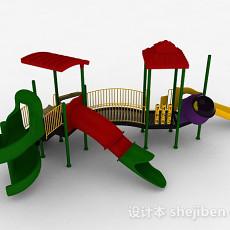 室外滑梯3d模型下载