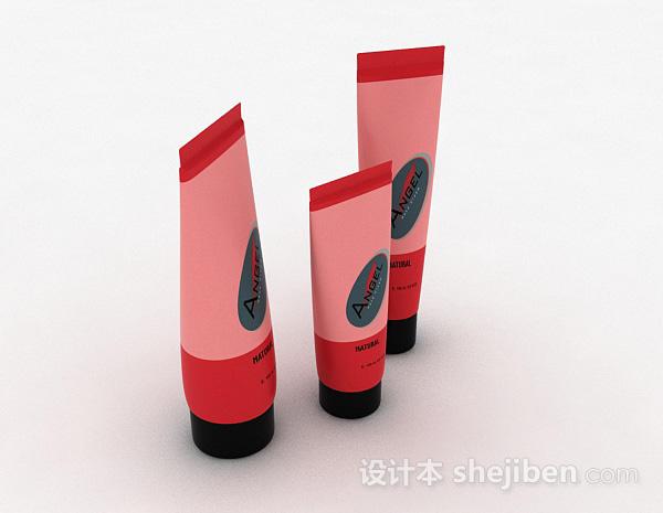 红色护肤品模型