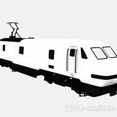 白色高铁车厢3d模型下载
