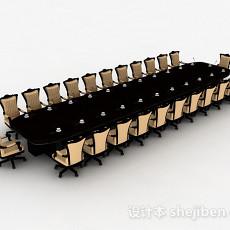 办公会议桌椅3d模型下载