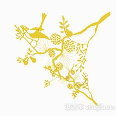 黄色家居摆设品3d模型下载