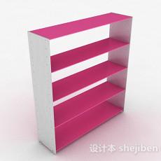 粉色鞋柜3d模型下载