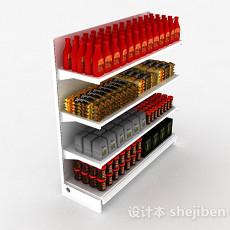 超市产品展示架3d模型下载