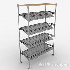 灰色金属鞋架3d模型下载