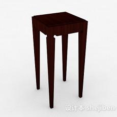 棕色木质单个花卉展示架3d模型下载