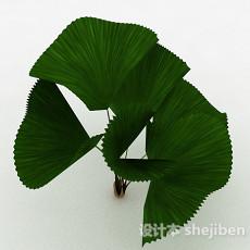 绿色粽叶3d模型下载