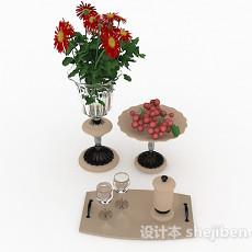 欧式风格用餐装饰餐具3d模型下载