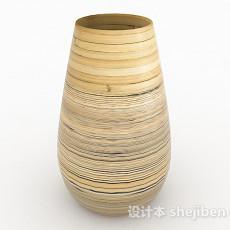 大肚型线条陶瓷摆件3d模型下载
