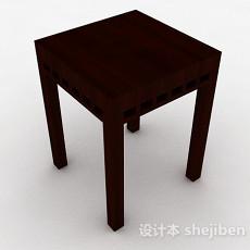 棕色原木花纹花架3d模型下载