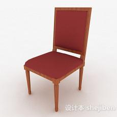 欧式风格红色布艺单人椅3d模型下载