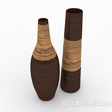 棕色瓷器摆设品3d模型下载