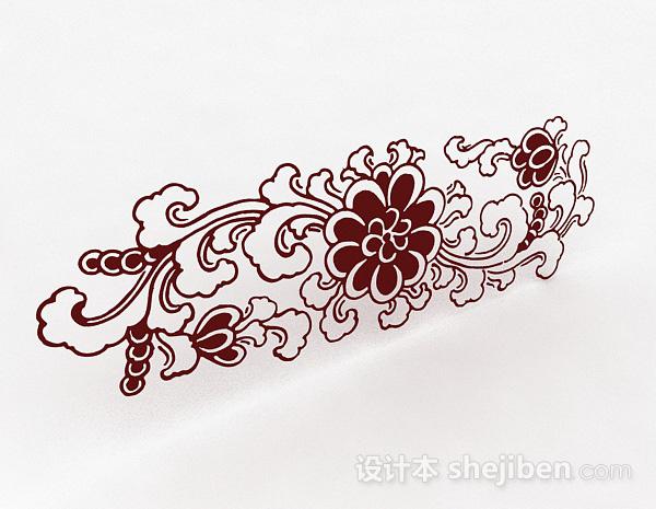 牡丹花卉图案墙纸