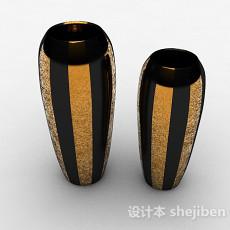 黑色金属花瓶3d模型下载