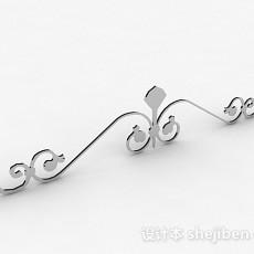不锈钢金属铁艺铁花3d模型下载