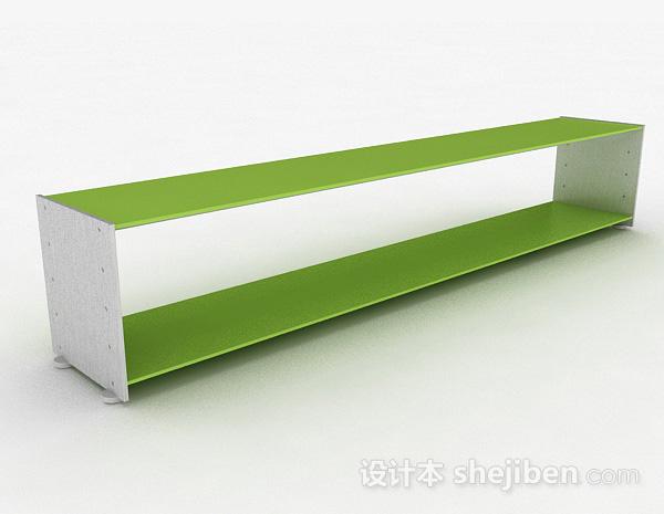 双层绿色置物架