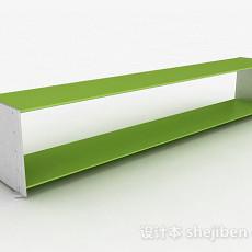 双层绿色置物架3d模型下载