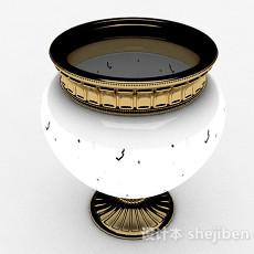 白色大肚陶瓷花瓶3d模型下载