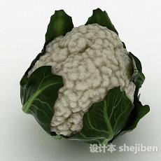 白色花包菜3d模型下载