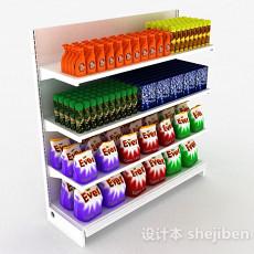 超市货物展示架3d模型下载