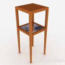 原木色木质花架3d模型下载