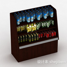 商场饮料展示台3d模型下载