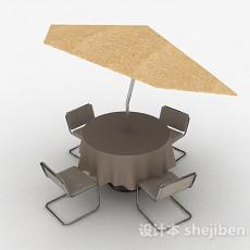 户外休闲桌椅3d模型下载