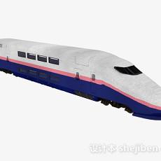 白色高铁车头3d模型下载