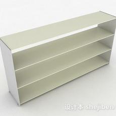 米白色简约四层鞋柜3d模型下载