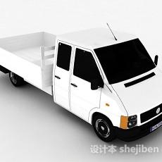 白色货车3d模型下载