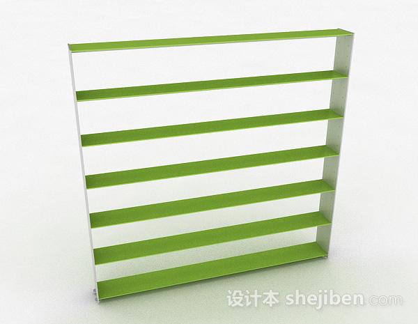 嫩绿色多层文件置物架