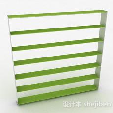 嫩绿色多层文件置物架3d模型下载