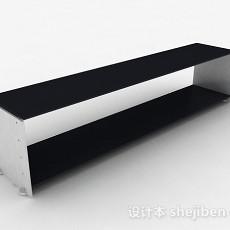 黑色简约鞋柜3d模型下载