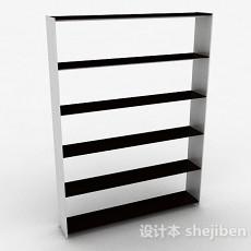 黑白简约多层鞋柜3d模型下载