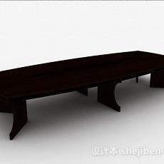 现代风格长方形会议桌3d模型下载