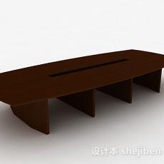 现代风格木质会议桌3d模型下载
