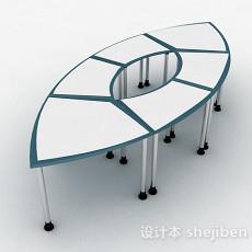 多人办公桌3d模型下载