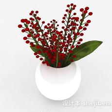 摆设椭圆形陶瓷花瓶3d模型下载