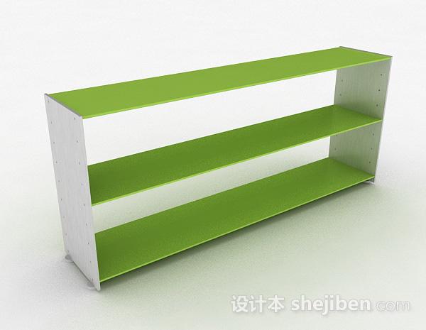 嫩绿色双层置物架