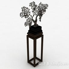 室内树状盆栽3d模型下载