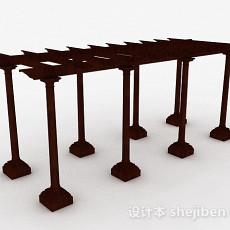 室外园林花架3d模型下载