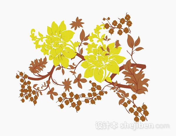 多色花卉图案壁纸