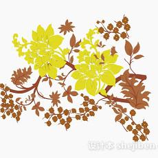 多色花卉图案壁纸3d模型下载
