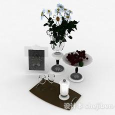 欧式风格组合餐具3d模型下载