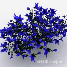 蓝色五角状花朵花卉3d模型下载