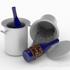 金属冰镇桶3d模型下载