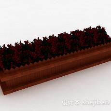木质院落盆栽3d模型下载