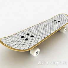 网格花纹滑板3d模型下载