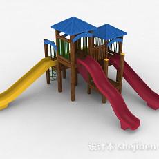 室外公园滑滑梯3d模型下载