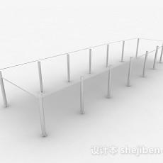 简约玻璃办公会议桌3d模型下载